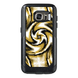 Black and Gold Swirls OtterBox Samsung Galaxy S7 Case