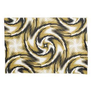 Black and Gold Swirls Pillowcase