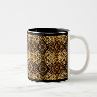 Black and Gold Two-Tone Coffee Mug