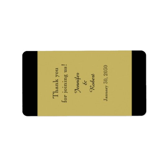 Black and Gold Wedding Lip Balm Label