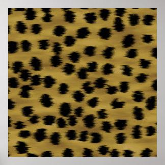 Black and Golden Brown Cheetah Print Pattern.