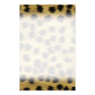 Black and Golden Brown Cheetah Print Pattern. 14 Cm X 21.5 Cm Flyer