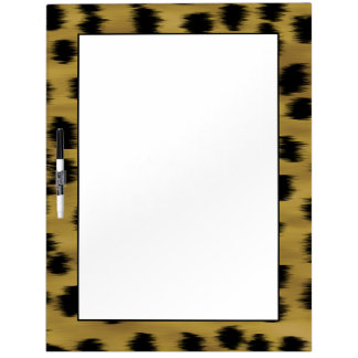 Black and Golden Brown Cheetah Print Pattern. Dry Erase Board
