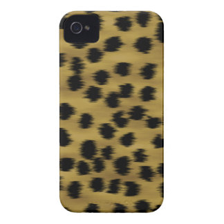 Black and Golden Brown Cheetah Print Pattern. iPhone 4 Case-Mate Case