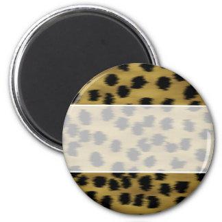 Black and Golden Brown Cheetah Print Pattern. Magnet