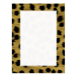 Black and Golden Brown Cheetah Print Pattern. Postcard
