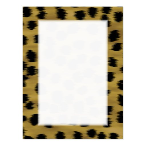Black and Golden Brown Cheetah Print Pattern. Post Card