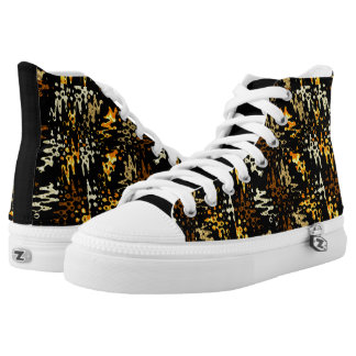 Black and Golden High Tops