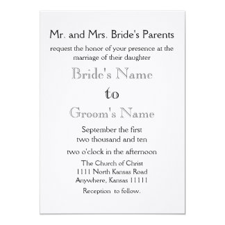 Black and Gray 13 Cm X 18 Cm Invitation Card