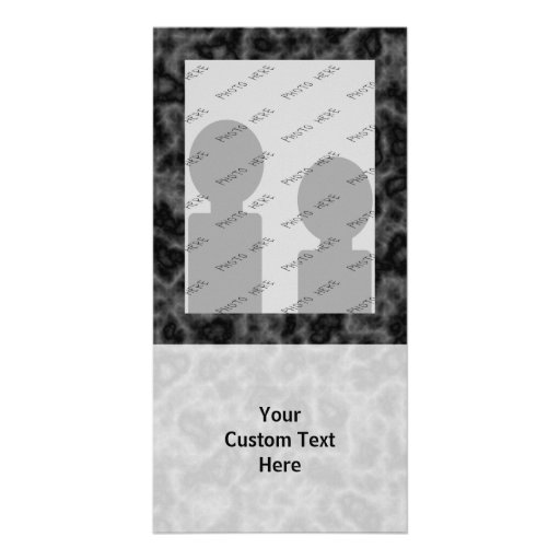 Black and Gray Abstract Pattern Personalized Photo Card