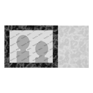 Black and Gray Abstract Pattern Custom Photo Card