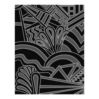 Black and Gray Art Deco Design. Full Color Flyer