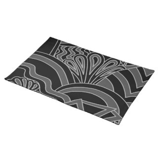 Black and Gray Art Deco Design. Placemat