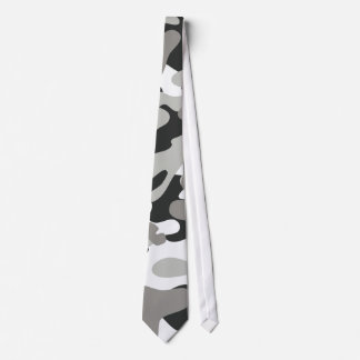 Black and Gray Camo Design Tie