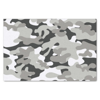 Black and Gray Camo Design Tissue Paper