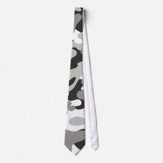 Black and Gray Camo Tie