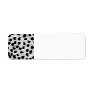 Black and Gray Cheetah Print Pattern.