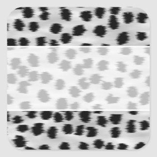 Black and Gray Cheetah Print Pattern. Square Sticker