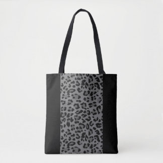 Black and Gray Cheetah Tote