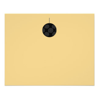Black and Gray Christmas Bauble on Gold. 11.5 Cm X 14 Cm Flyer