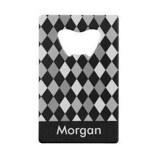 Black and Gray diamond geometric design