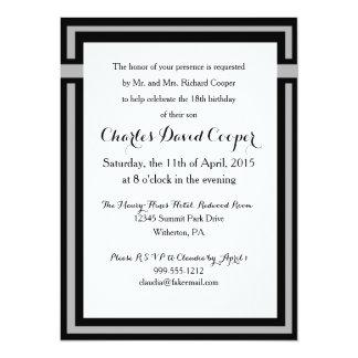 Black and Gray Elegant Invitation