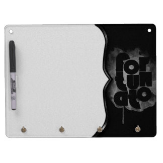 Black and Gray Fortunato Dry Erase Board With Key Ring Holder