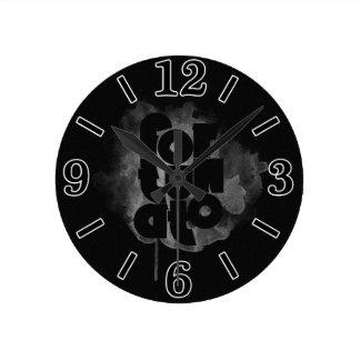 Black and Gray Fortunato Round Clock
