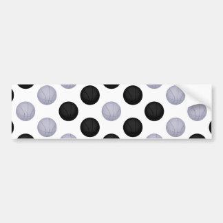 Black and Gray / Silver Basketball Pattern Bumper Sticker
