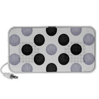 Black and Gray / Silver Basketball Pattern iPod Speaker