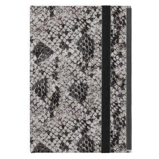 Black and Gray Snake Skin iPad Mini Cover