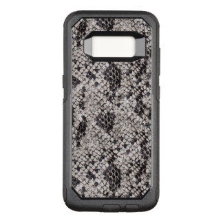 Black and Gray Snake Skin OtterBox Commuter Samsung Galaxy S8 Case