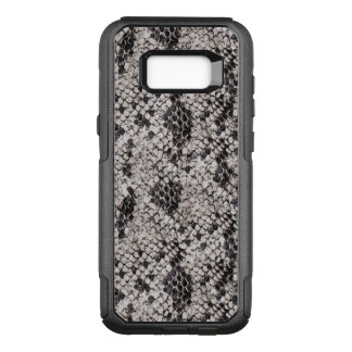 Black and Gray Snake Skin OtterBox Commuter Samsung Galaxy S8+ Case