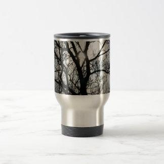Black and Gray Tree Stainless Steel Travel Mug