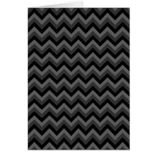 Black and Gray Zig Zag Pattern. Greeting Card