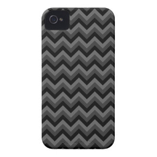 Black and Gray Zig Zag Pattern. iPhone 4 Case-Mate Case