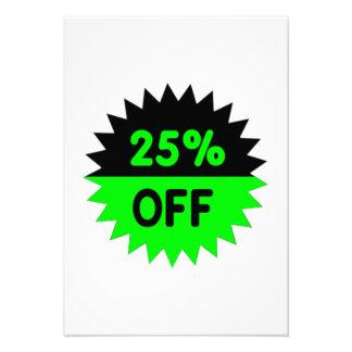 Black and Green 25 Percent Off Custom Announcements