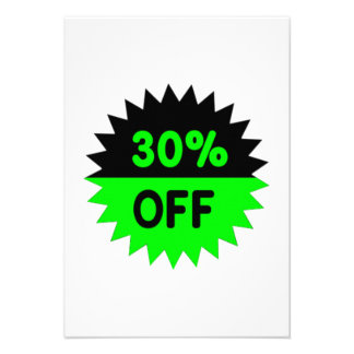 Black and Green 30 Percent Off Announcements
