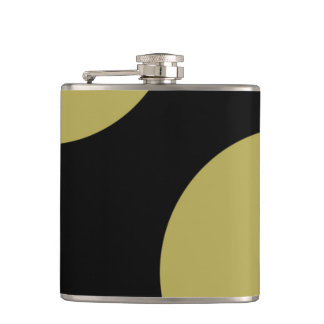 Black and green abstract design flasks