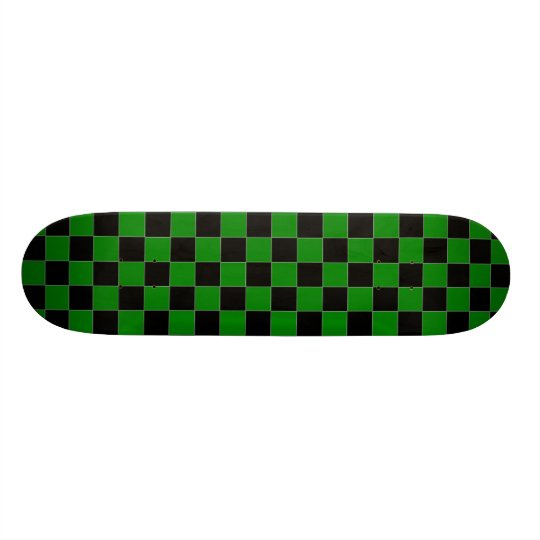 Black and Green Chequered Skateboard