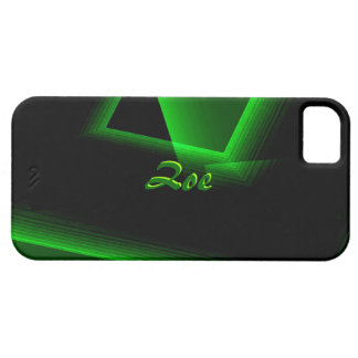 Black and Green iPhone 5 case for Zoe