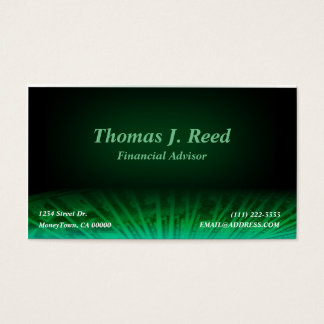 Black And Green Money Business Card