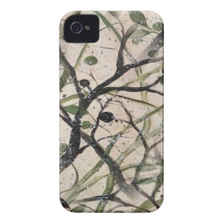 Black And Green Olive Tree Digital Abstract Case-Mate iPhone 4 Cases