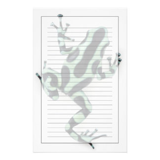 Black and Green Poison Dart Frog 2 Stationery