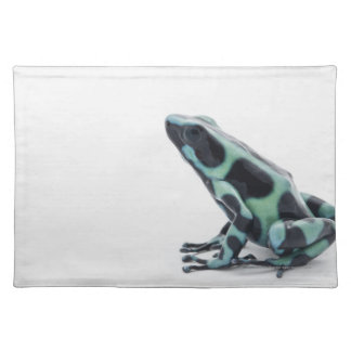 Black and Green Poison Dart Frog Place Mat