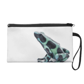 Black and Green Poison Dart Frog Wristlet