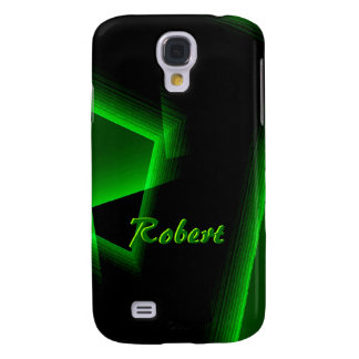 Black and Green Samsung Galaxy S4 cover for Robert Galaxy S4 Case