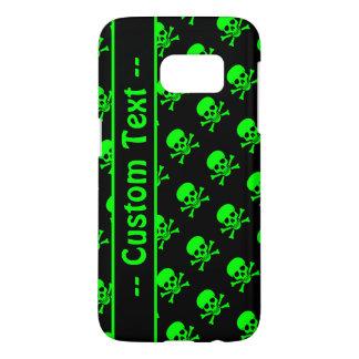 Black and Green Skull Pattern Case w/ Custom Text