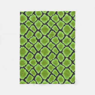 Black and Green Snakeskin Fleece Blanket