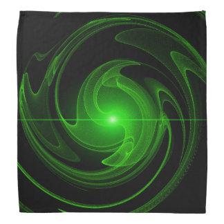 Black and green spiral bandanna